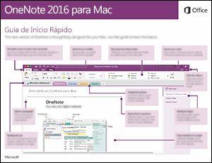 Guia de Início Rápido do OneNote 2016 para Mac