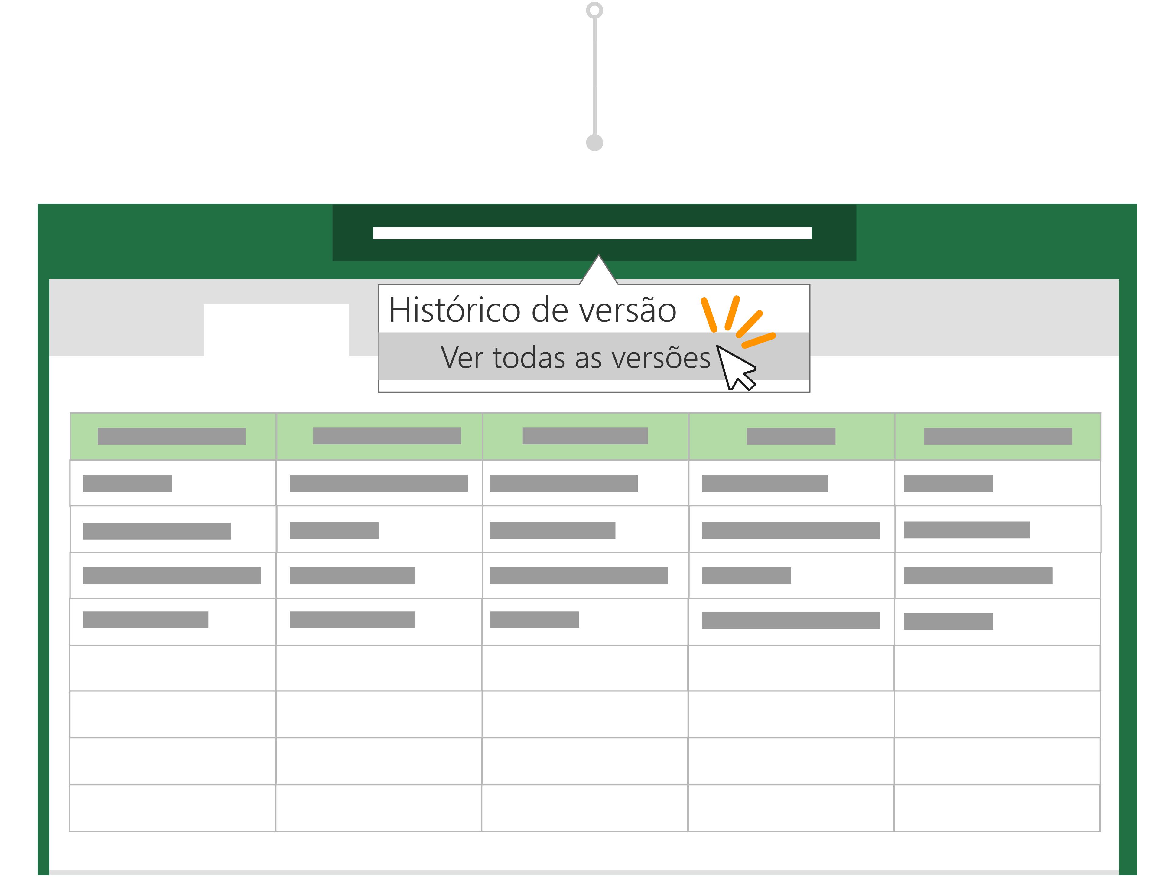 Use o histórico de versões para voltar para uma versão anterior de um arquivo.