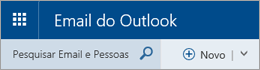Barra de menus do Email do Outlook