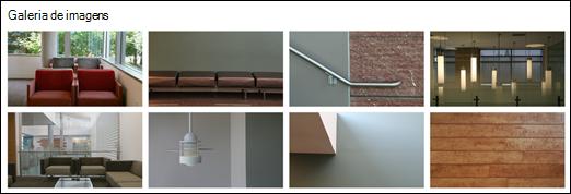 Web part de galeria de imagens do SharePoint