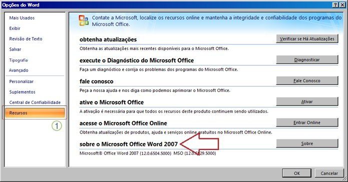 Recursos do Word 2007