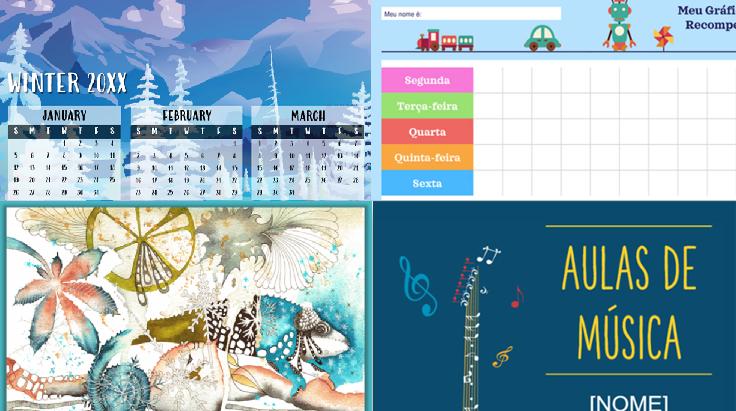 capturas de tela de modelos de calendário, evento e programação premium.