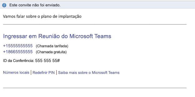 Inserir o link da Reunião do Microsoft Teams no corpo do evento