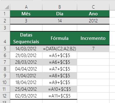Aumentar ou diminuir uma data de acordo com determinado número de dias