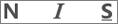 Ícones de negrito, sublinhado e itálico