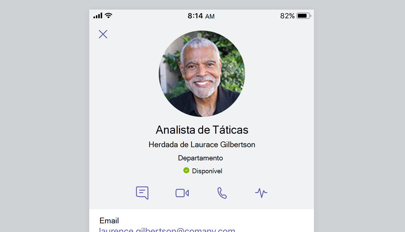 Esta captura de tela mostra o cartão de perfil de alguém.