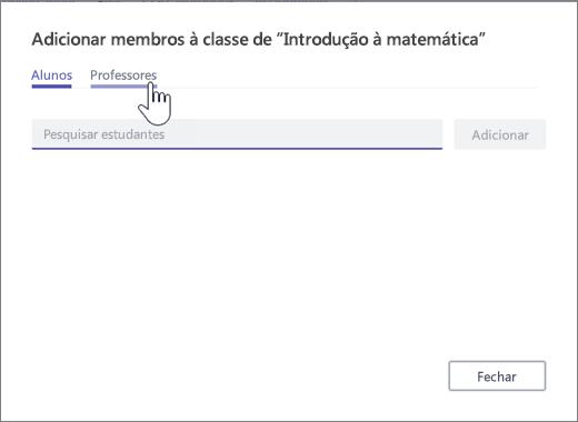 Selecionar professor