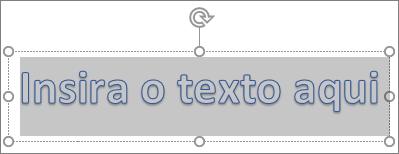 Texto de espaço reservado para WordArt