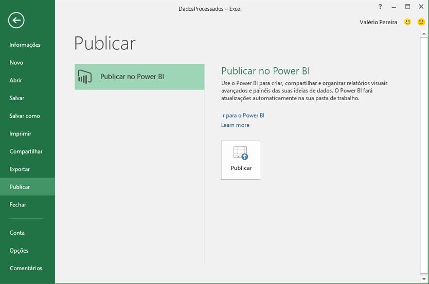 Publicar no Power BI