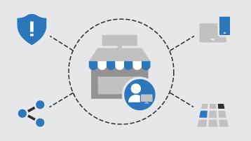Diagrama conceitual de opções de treinamento para pequenas empresas
