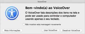 Ativar ou desativar o VoiceOver