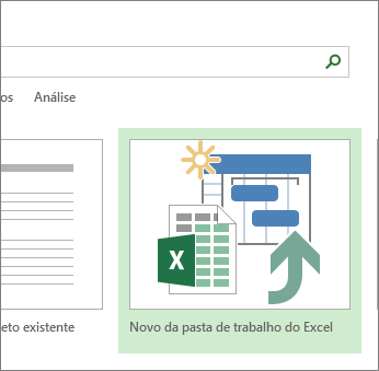 Modelo de pasta de trabalho do Excel