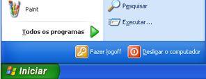 botão início e comando executar do windows xp
