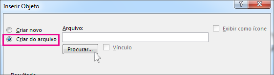 caixa de diálogo procurar arquivo