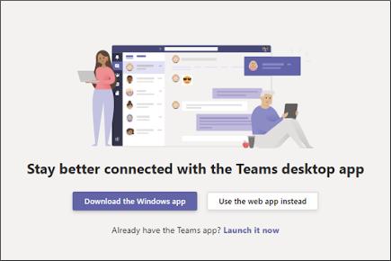 Baixar o aplicativo da área de trabalho ou usar o aplicativo Web