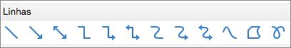 Linhas no PPT para Mac