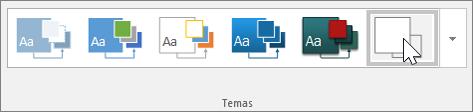 Instantâneo da barra de ferramentas de Temas