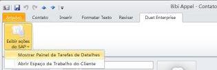 Exibir ações do SAP
