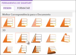 Aplicar um estilo de SmartArt