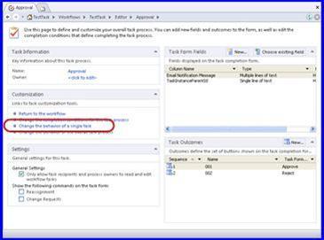 Para alterar o conteúdo de uma notificação por email, você precisa alterar o comportamento de uma única tarefa