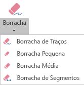 O PowerPoint para Office 365 possui quatro borrachas para tinta digital.