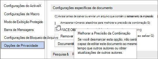 Configuração para armazenar números aleatórios
