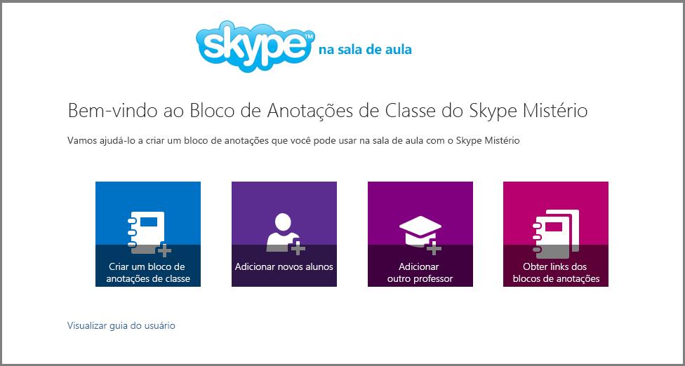 Bem-vindo ao Mystery Skype