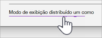 Botão Exibir distribuir páginas