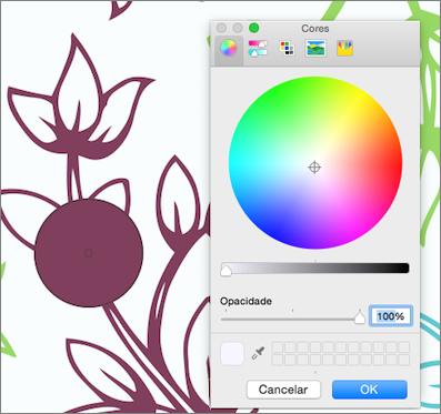Visualização de cores de conta-gotas