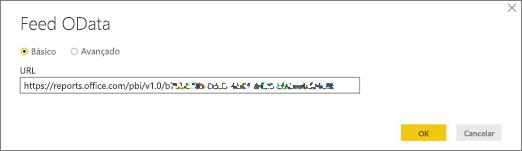URL de feed OData para a área de trabalho do Power BI