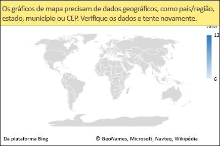 Gráfico de mapa do Excel com dados ambíguos