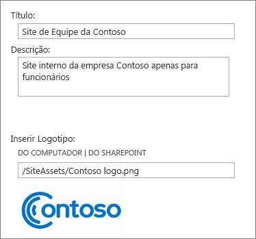 Imagem da caixa de diálogo Campos Personalizados