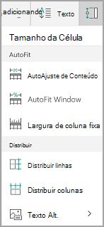 Opções de AutoAjuste do Windows Mobile