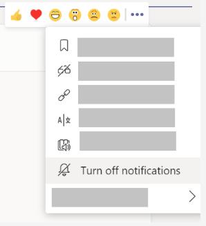 Imagem da configuração para desativar as notificações de conversas de canal