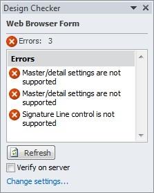 Verificar o design de um formulário