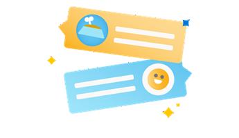 Ilustração de uma lupa e cartão de visita