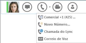 Captura de tela da opção para fazer uma chamada