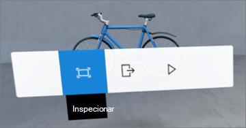 Interface do usuário do menu de contexto
