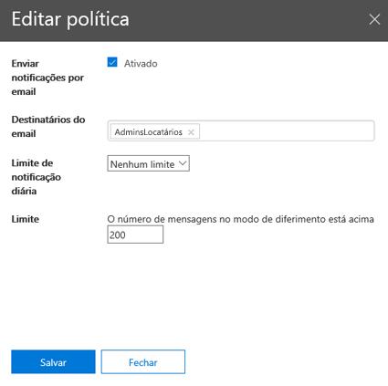 Editar política Blade