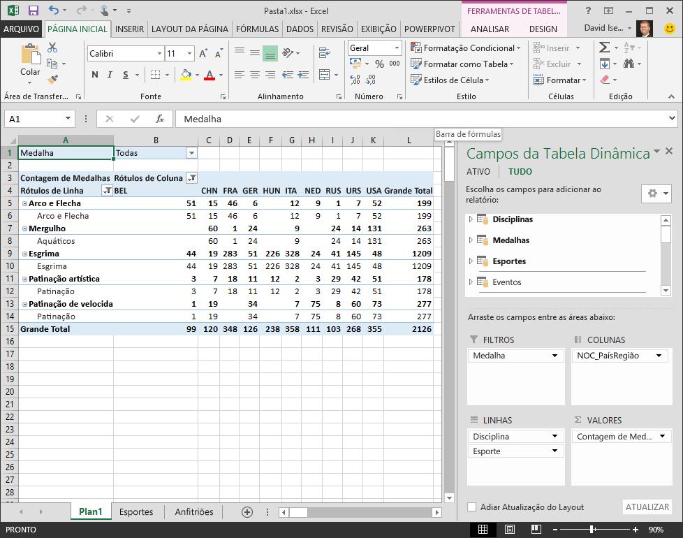 Tabela dinâmica com ordenação indesejada