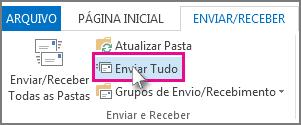 O botão Enviar Tudo no Outlook 2013