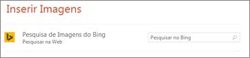 Caixa de pesquisa do Bing Imagens