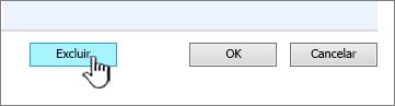 Excluir botão de coluna na parte inferior da página de configurações de coluna