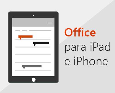 Clique para configurar aplicativos do Office no iOS