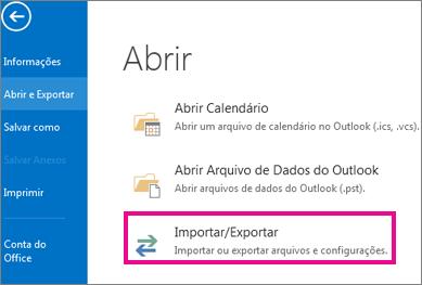 Exportação de Arquivo