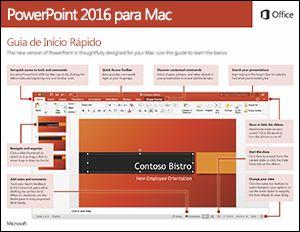 Guia de Início Rápido do PowerPoint 2016 para Mac