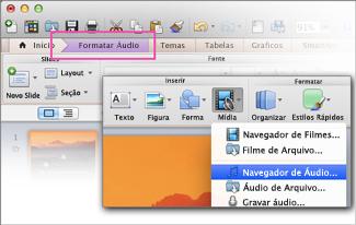 Abrir navegador de áudio