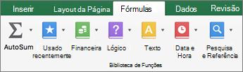 Na guia fórmulas, clique em texto.