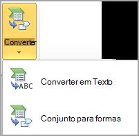 Converter SmartArt em formas