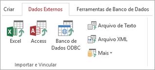 Guia Dados Externos do Access